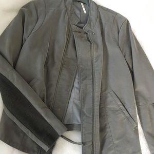 Free People faux suede moto jacket